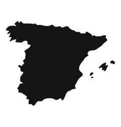 Map of spain icon simple style vector