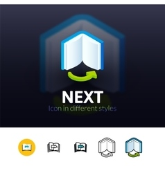 Next icon in different style vector image