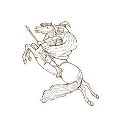 Norse god odin riding horse vector
