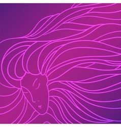 Pretty woman with beautiful long hair vector image vector image
