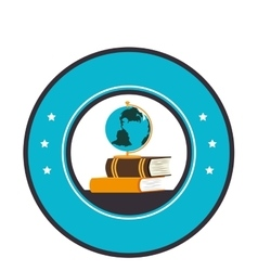 school supply seal icon vector image