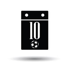 Soccer calendar icon vector
