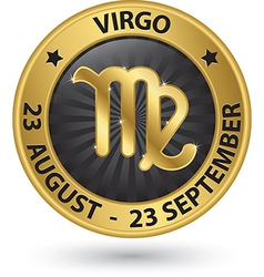 Virgo zodiac gold sign virgo symbol vector image