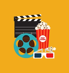 Movie poster flat design vector
