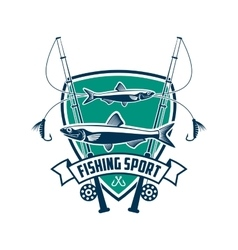 Fishing sport club sign vector image