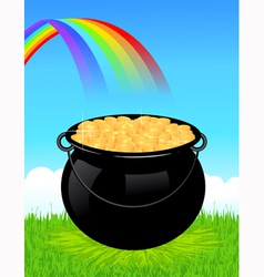 Money cauldron vector