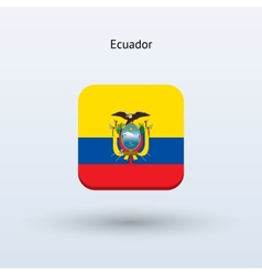 Ecuador flag icon vector