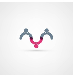Business icon Handshake vector image