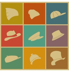 Colorful hats vector