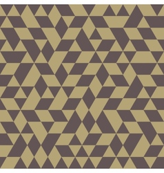 Geometric seamless pattern with golden triangles vector