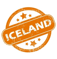Iceland grunge icon vector