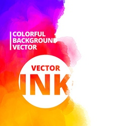 Background of colorful ink splash design vector