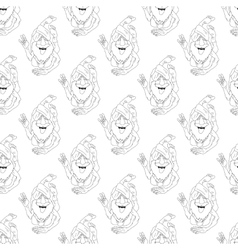 Yoga seamless pattern vector