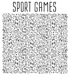 Sport hand drawn seamless pattern vector image