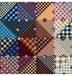 Abstract seamless patchwork pattern from vector