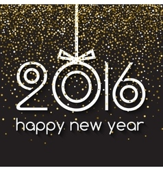 Happy new year 2016 creative gold light glitter vector