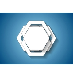Abstract hexagons template vector image vector image