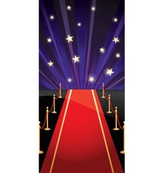 Background with red carpet and stars vector
