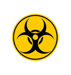 Biohazard sign warning radiation hazard warning vector