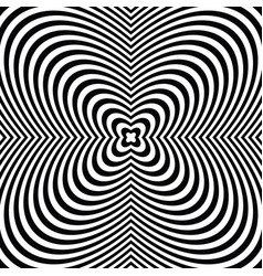Black and white hypnotic radial lines with vector