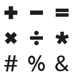 Black mathematical vector