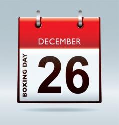 boxing day calendar vector image vector image