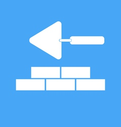 Bricklaying and trowel vector image vector image