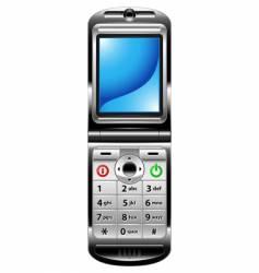 cellphone blue screen vector image