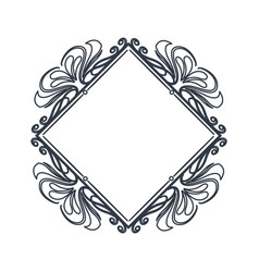 classic frame polygon crest heraldic decoration vector image vector image