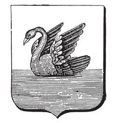 Coat of arms western australia vintage vector