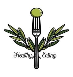Color vintage nutritionist emblem vector image
