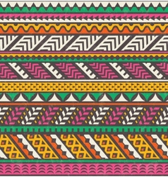Colorful ethnic print seamless background vector image vector image