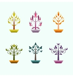 Creative trees design vector image vector image