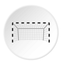 football or soccer gate icon circle vector image