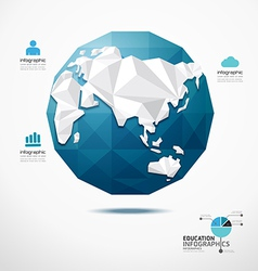 globe world map infographics geometric concept vector image