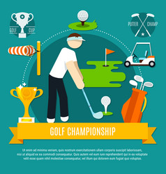 golf competition flat composition vector image