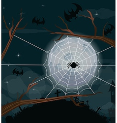 Halloween night background with full Moon vector image vector image