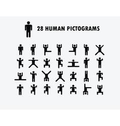Human Pictogram Icons vector image