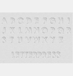 letterpress vector image