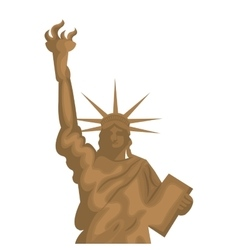 liberty statue new york city vector image