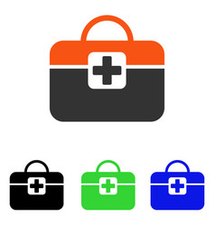 Medical kit flat icon vector