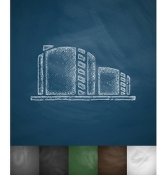 Oil towers icon vector