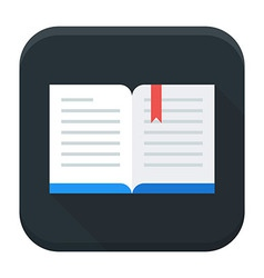 Open book app icon with long shadow vector image vector image