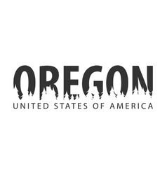 Oregon usa united states of america text or vector