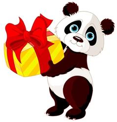 Panda birthday vector image