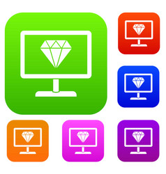 Screen with diamond set collection vector