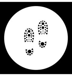 simple black man footprint of shoes black icon vector image vector image