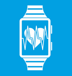 smartwatch with sport app icon white vector image vector image