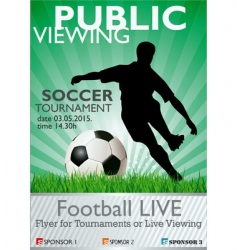 soccer tournament flyer vector image vector image