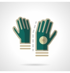 Sport accessories flat color icon Gloves vector image vector image